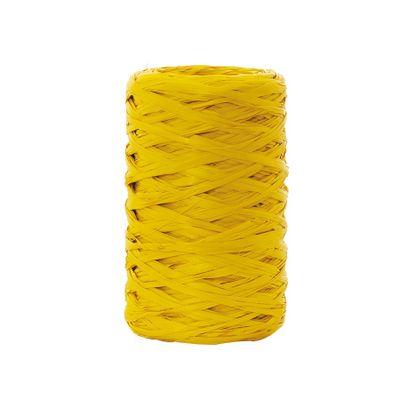6462-Fita-Rafia-Sintetica-094124-Amarelo-Canario-com-50m-CROMUS