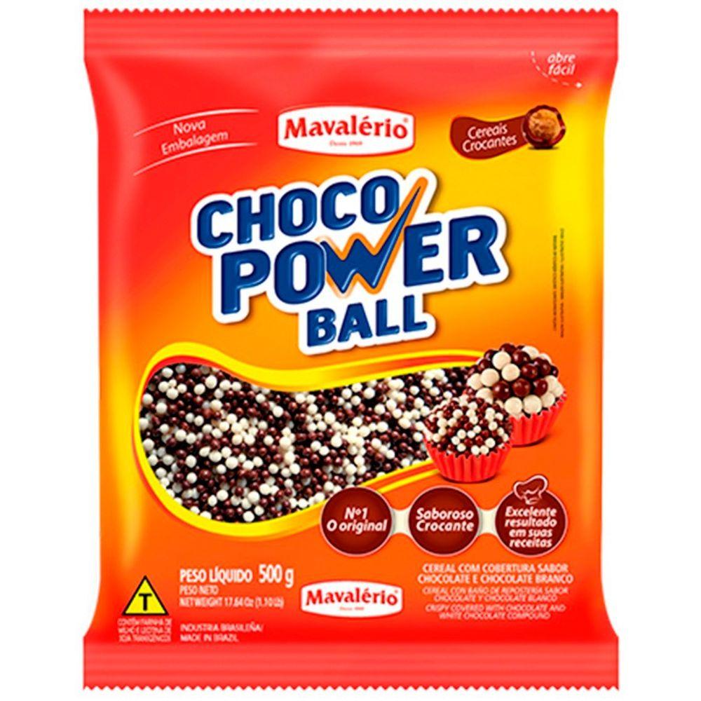 Choco Power Ball Micro Preto E Branco 500g Mavalerio Lojasantoantonio