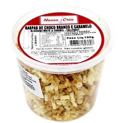 Raspas-de-Choco-Branco-e-Caramelo-Blossoms-White-e-Caramel-Callebaut-150g-2
