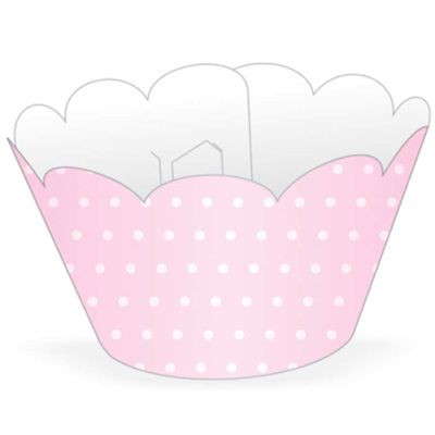 58012-Wrapper-Cupcake-Poa-Rosa-Branco-NC-TOYS