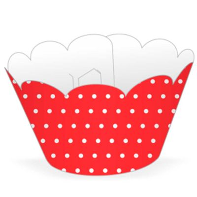 58022-Mini-Wrapper-Cupcake-Poa-Vermelho-Branco-NC-TOYS
