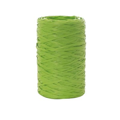 64551-Fita-Rafia-Sintetica-094128-Verde-Maca-com-50m-CROMUS