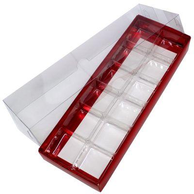 Caixa-Para-Doce-N3-Com-Berco-Vermelho-Texturizada-Com-10-Unidades-ASSK