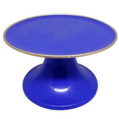 88420-Suporte-Bolo-Liso-Azul-Bic-Filete-Dourado-22cm-SO-BOLEIRAS