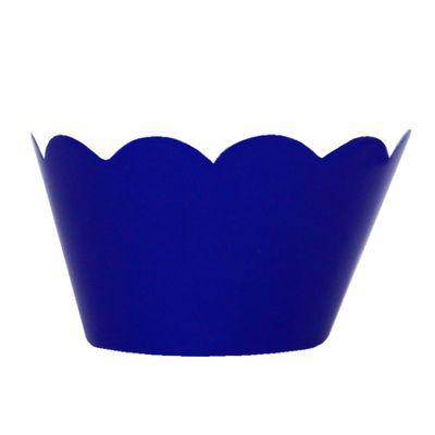 91568-Mini-Wrapper-para-Cupcake-Azul-Escuro-com-12-un-RABICO