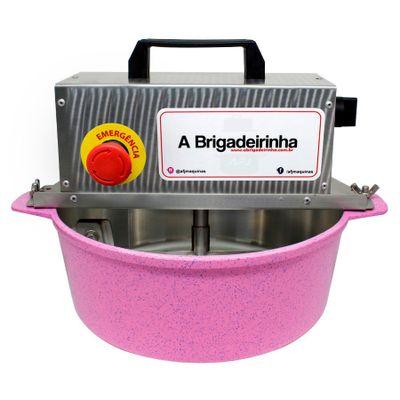 Panela-para-Mexer-Doces-Automatica-Rosa-28cm-A-BRIGADEIRINHA-