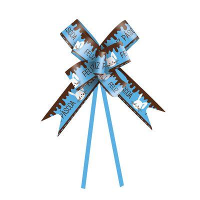 96218-Laco-Pronto-Coelho-Azul-23cm-1824094-com-10-un-CROMUS
