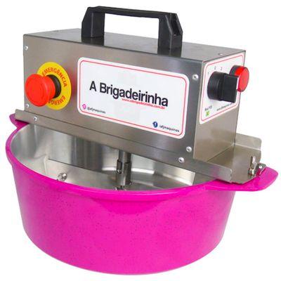 Panela-para-Mexer-Doces-Automatica-Pink-28cm-ABRIGADEIRINHA
