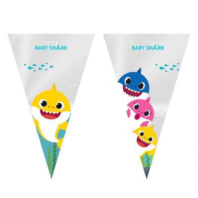 102057-Cone-Festa-Baby-Shark-18x30cm-11600026-com-50-un-CROMUS