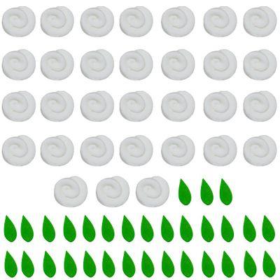 97710-Confeito-de-Acucar-Mini-Rosa-com-Folhas-Branca-D09-com31-un-ABELHA-CONFEITEIRA