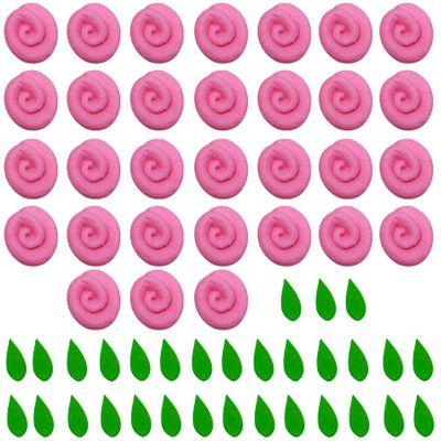97711-Confeito-de-Acucar-Mini-Rosa-com-Folhas-Rosa-D09-com31-un-ABELHA-CONFEITEIRA