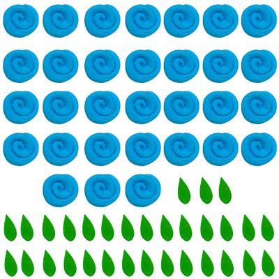 97712-Confeito-de-Acucar-Mini-Rosa-com-Folhas-Azul-D09-com31-un-ABELHA-CONFEITEIRA