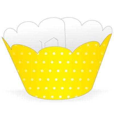 58021-Mini-Wrapper-Cupcake-Poa-Amarelo-Branco-NC-TOYS