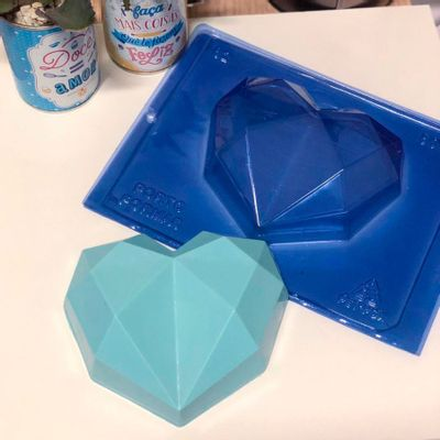 103637-Forma-de-Acetato-com-Silicone-Coracao-Diamond-500g-62-un-PORTO-FORMAS