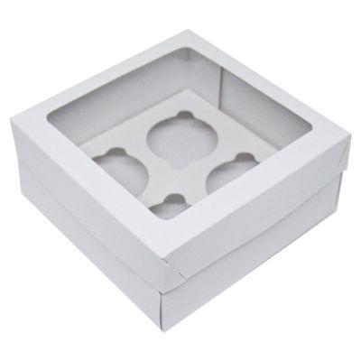 103903-Caixa-Para-4-Mini-Cupcakes-com-Visor-Branco-com-10-un-YINPACK