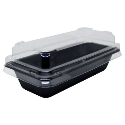 104118-Embalagem-Para-Bolo-Retangular-Forneavel-Com-Tampa-G220-Preta-Com-5-Un-GALVANOTEK