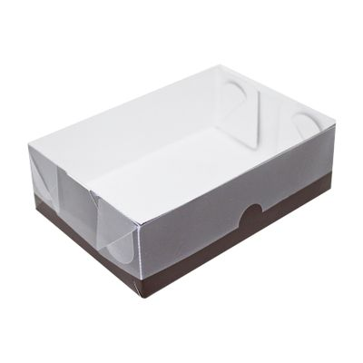 104413-Caixa-Para-Doces-De-Papel-Com-Tampa-De-PVC-Retangular-N-3-Marrom-Com-10-Un-YINPACK
