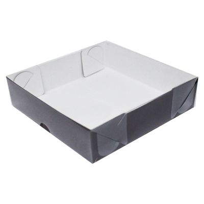 104414-Caixa-Para-Doces-De-Papel-Com-Tampa-De-PVC-Quadrada-N-6-Marrom-Com-10-Un-YINPACK