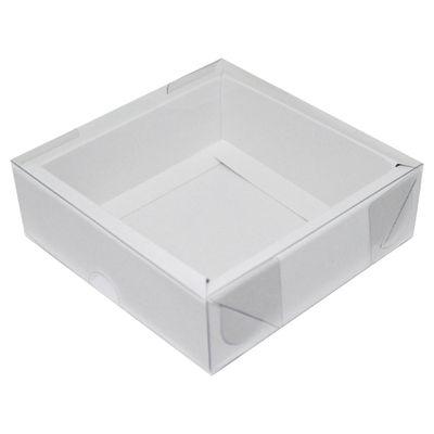 105141-Caixa-Para-Doces-de-Papel-com-Tampa-de-PVC-Quadrado-Com-Moldura-N-2-Branco-com-5-un-YINPACK