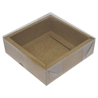 105142-Caixa-Para-Doces-de-Papel-com-Tampa-de-PVC-Quadrado-Com-Moldura-N-2-Kraft-com-5-un-YINPACK