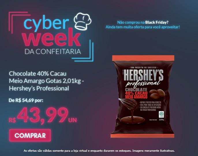 CHOCOLATE PROFESSIONAL 40% CACAU MEIO AMARGO - GOTAS 2,01KG HERSHEY'S