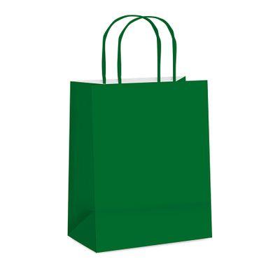 65988-Sacola-Papel-Lisa-Verde-Escuro-P---215x15x8-C-1-un-CROMUS