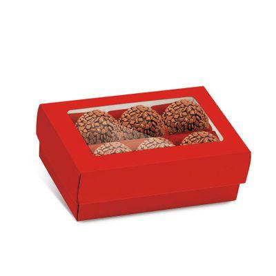 136853-Caixa-Para-6-Doces-Com-Visor-Vermelho-13002629-com-10-un-CROMUS