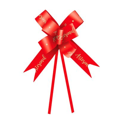 85113-Laco-Pronto-100--Artesanal-Vermelho-23-cm-C-10-un---CROMUS