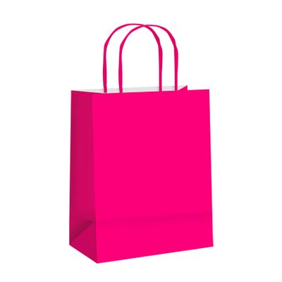 106101-Sacola-Papel-Lisa-Pink-M-26X195X95-C-10-un-CROMUS