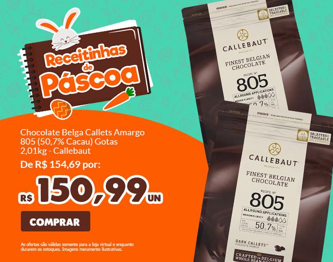 *CHOCOLATE BELGA CALLETS AMARGO 805 (50,7% CACAU) - GOTAS 2,01KG CALLEBAUT