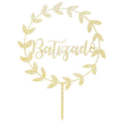 104690-Topo-de-Bolo-Batizado-MDF-Glitter-Dourado-SONHO-FINO
