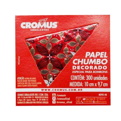 136244-Papel-Chumbo-Flor-de-Cacau-Vermelho-10x97-C300-un---CROMUS