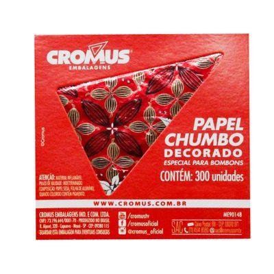 136245-PAPEL-CHUMBO-FLOR-DE-CACAU-VERMELHO-8X78-C300-UN---CROMUS