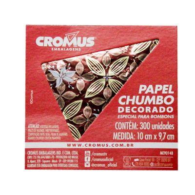 136240-PAPEL-CHUMBO-FLOR-DE-CACAU-MARROM-10X97-C300-UN---CROMUS