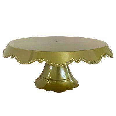 144788-Boleira-Babado-Grande-Dourado-30cm-MIRANDINHA