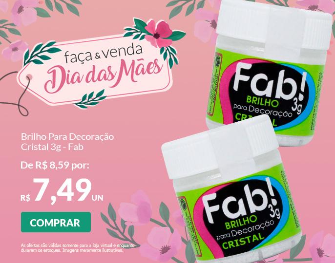 = OFERTA DO DIA - BRILHO PARA DECORAÇÃO CRISTAL 3G FAB