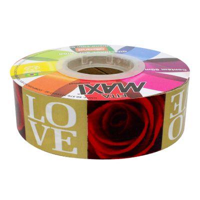 145687-Fita-Maxi-Love-Rose-Ouro-32mmX50m-ALBANO