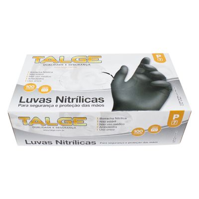 146306-Luva-Nitrilica-Preta-P-Sem-Po-com-100-un-TALGE