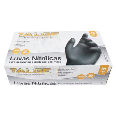 63203-Luva-Nitrilica-Preta-M-Sem-Po-com-100-un-TALGE