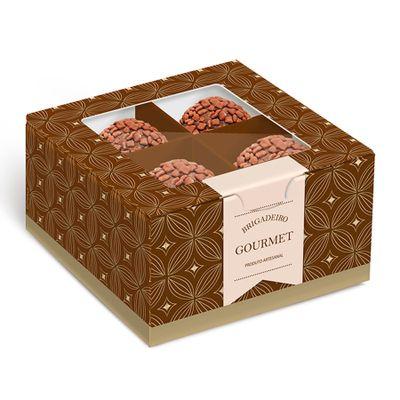 148092-Caixa-Gourmet-Marrom-Ouro-para-4-Doces--13002165--com-10-un-CROMUS