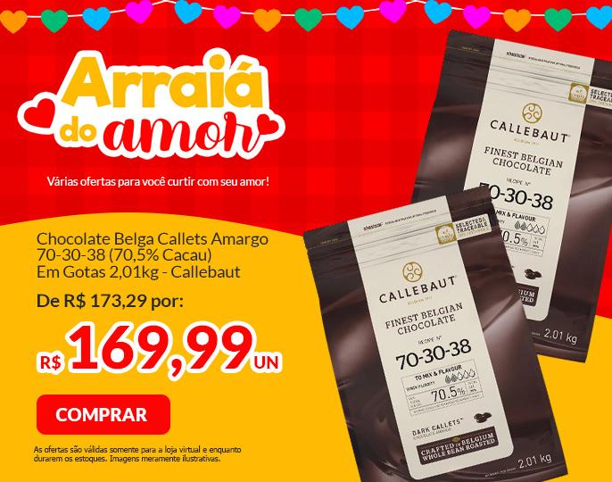 #CHOCOLATE BELGA CALLETS AMARGO 70-30-38 (70,5% CACAU) - GOTAS 2,01KG CALLEBAUT