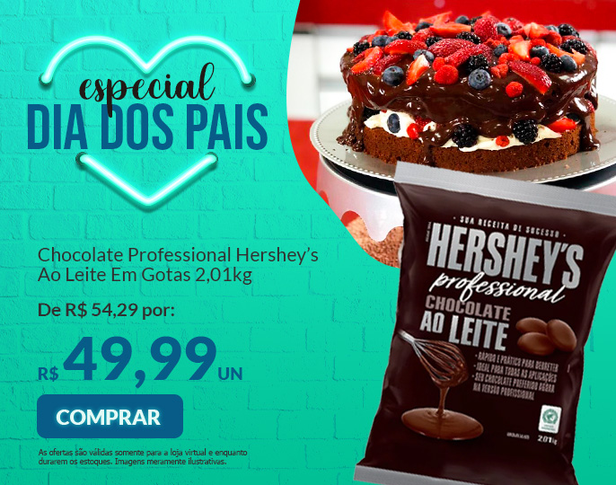 # CHOCOLATE PROFESSIONAL HERSHEY'S AO LEITE 2,01KG EM GOTAS
