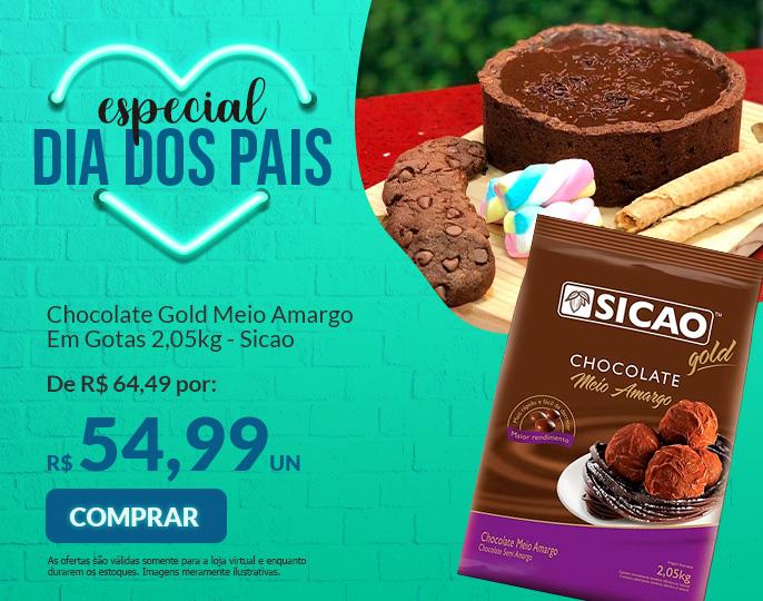 # CHOCOLATE GOLD MEIO AMARGO - GOTAS 2,05KG SICAO