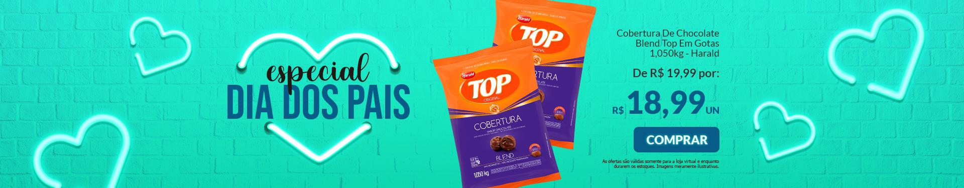 # COBERTURA DE CHOCOLATE BLEND TOP - GOTAS 1,050KG HARALD