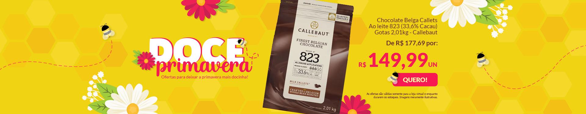 + CHOCOLATE BELGA CALLETS AO LEITE 823 (33,6% CACAU) - GOTAS 2