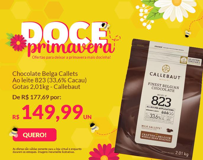 + CHOCOLATE BELGA CALLETS AO LEITE 823 (33,6% CACAU) - GOTAS 2,01KG CALLEBAUT