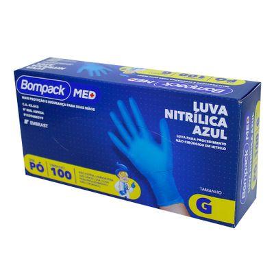 159427-Luva-Nitrilica-Azul-G-Sem-Po-Com-100-Un---BOMPACK